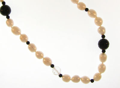 "Affordable Fashion Costume Jewelry 26"" Pearl Beaded Necklace: AKN6628-AO"