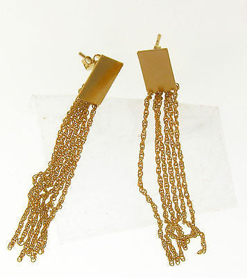 Elegant Long Dangle Gold Layered Earrings 02010065