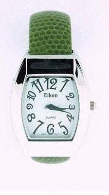 Fashion Costume Jewelry Casual Olive Green Cuff Watch :  2219LZ-OLV