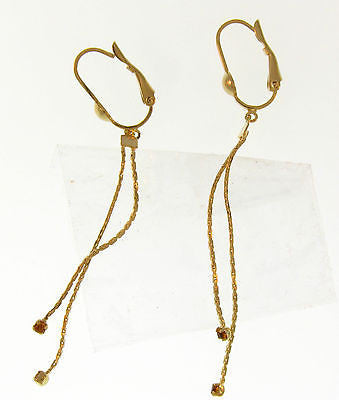 Elegant Simple Dangle Gold Layered Earrings 02010068