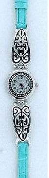 Fashion Costume Jewelry South West Strap Watches :  BRT-7-S-AQ - All Fashion Jewelry