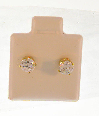 Elegant Simple Round Stud Gold Layered Earrings 02100030