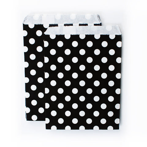 Treat Goodie Bags - Black and White Dots