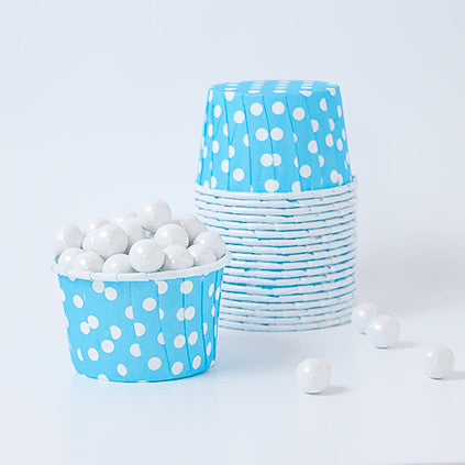 Candy Cups - Polka Dots - Light Blue