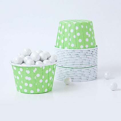 Candy Cups - Polka Dots - Apple Green