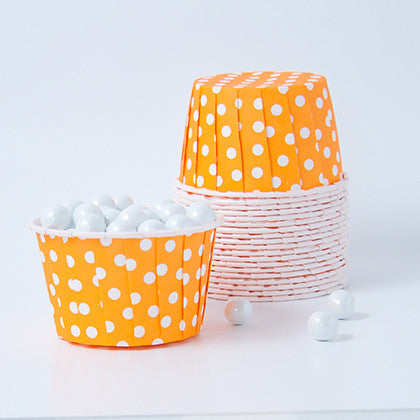 Candy Cups - Polka Dots - Tangerine Orange