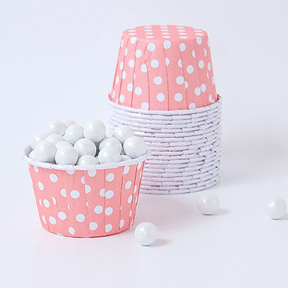 Candy Cups : Polka Dots - Light Pink
