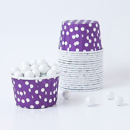 Candy Cups - Polka Dots -Berry Purple