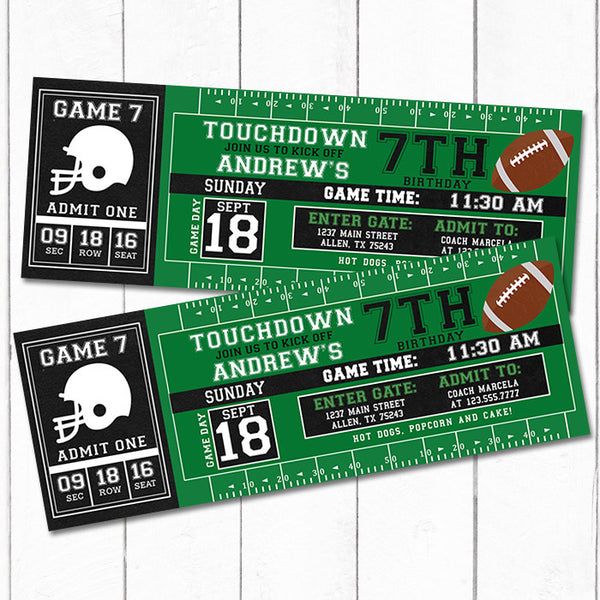 Football Ticket Invitation