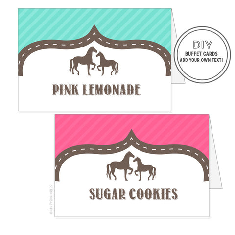 Horse & Pony : Buffet/Place Cards