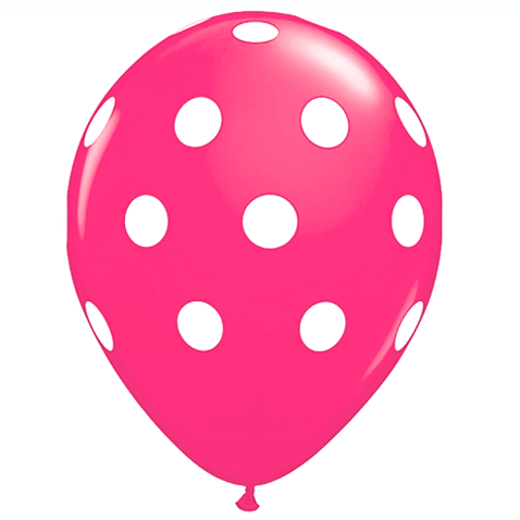 "11"" Polka Dots Balloon : Hot Pink"