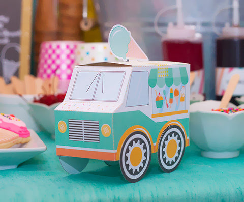Teal Blue Ice Cream Truck Box