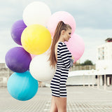 "36"" Round Balloon : White"