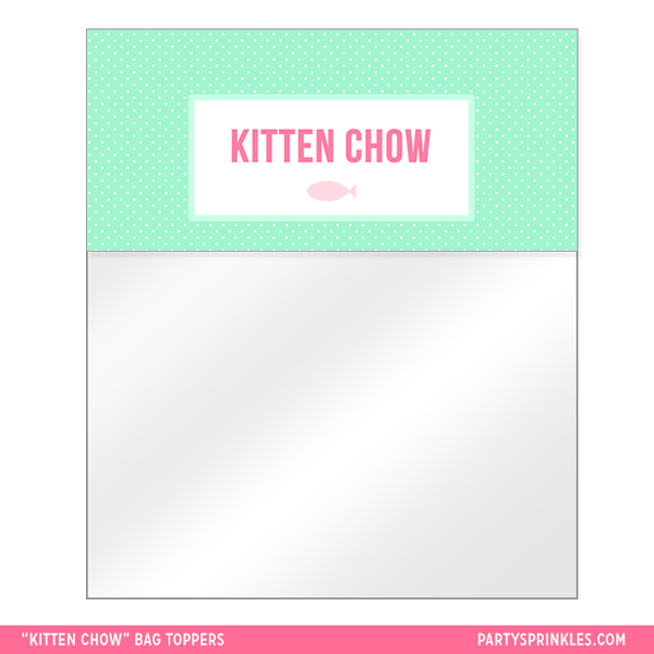 Kitten Chow Bag Toppers