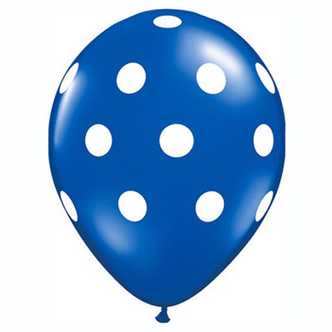 "11"" Polka Dots Balloon : Blue"
