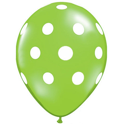 "11"" Polka Dots Balloon : Lime Green"