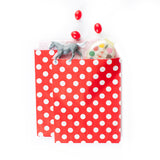 Treat Goodie Bags - Black and White Diagonal Stripes