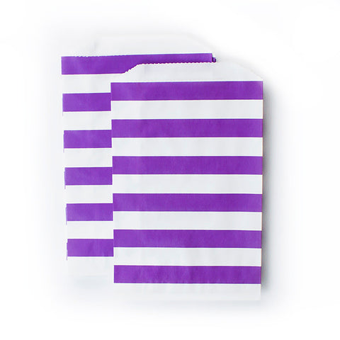 Treat Bags - Purple Rugby Stripes