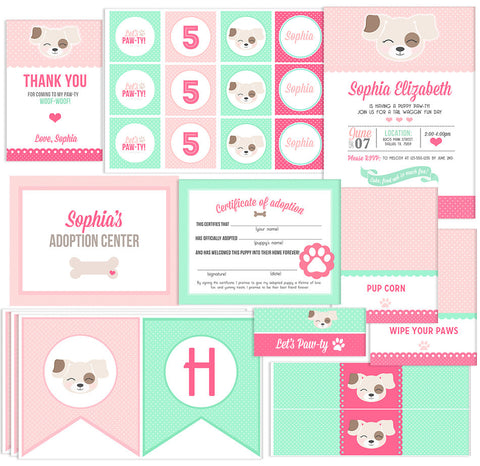 Mint & Pink Puppy Collection