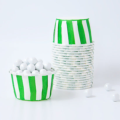 Candy Cups - Green Stripes