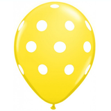 "11"" Polka Dots Balloon : Yellow"