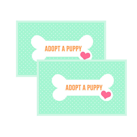 """Adopt a Puppy"" Favor Tags"