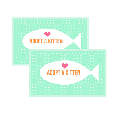 """Adopt a Kitten"" Favor Tags"