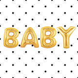 "16"" Gold Foil Balloons : BABY"
