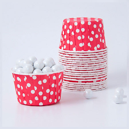 Candy Cups - Polka dots - Red
