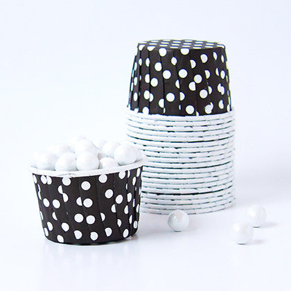 Candy Cups - Polka Dots - Black