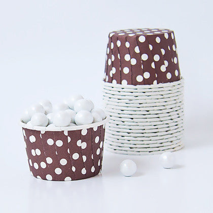 Candy Cups - Polka Dots - Coffee Brown