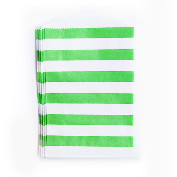 Treat Bags - Green - Rugby Stripes