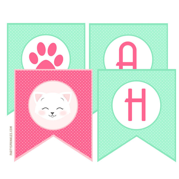 "Kitten ""Happy Birthday"" Banner"
