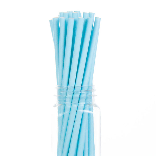 Paper Straws : Solid Blue