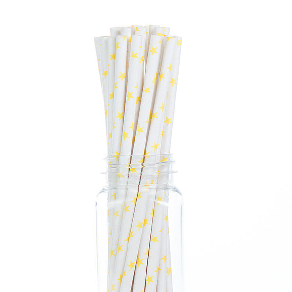 Paper Straws : Yellow Stars