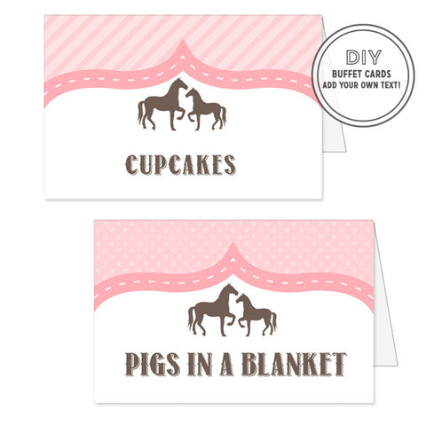 Vintage Pony Buffet / Place Cards