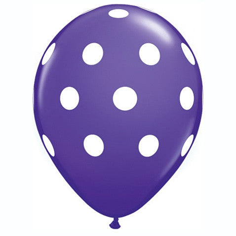 "11"" Polka Dots Balloon : Purple"