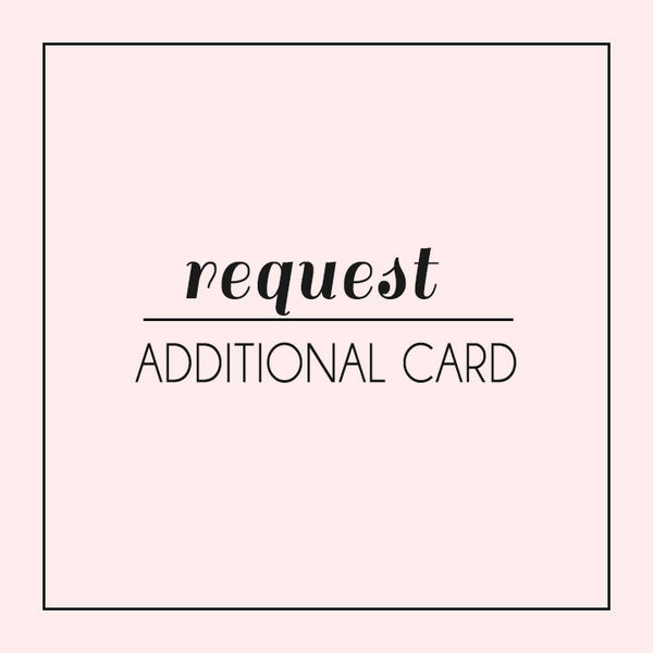 Request an additional card