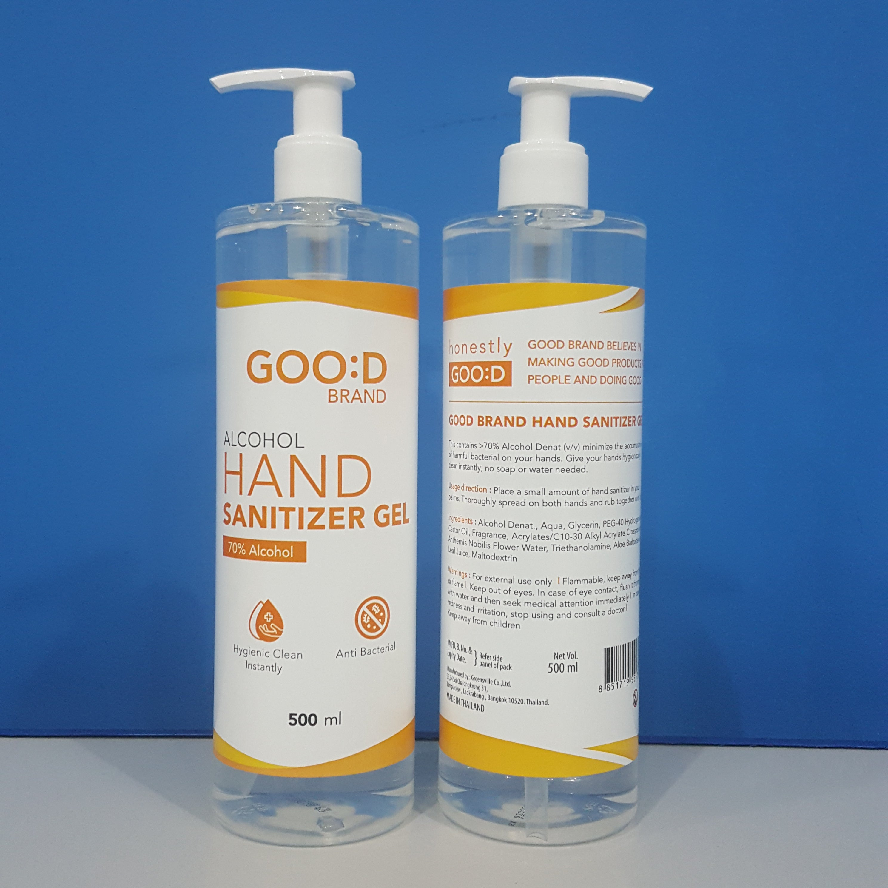 Good Brand Hand Sanitiser Gel 500ml