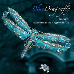 Brooch - Blue Dragonfly