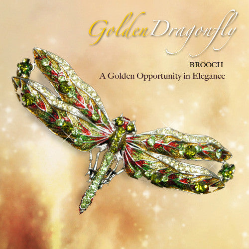 Brooch - Golden Dragonfly
