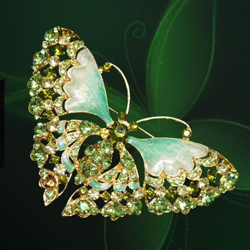 Brooch - Jade Butterfly