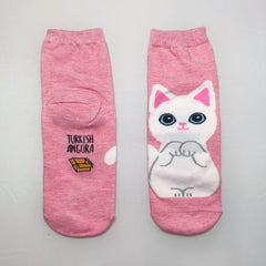 Luv My Meow Meow Ankle Socks