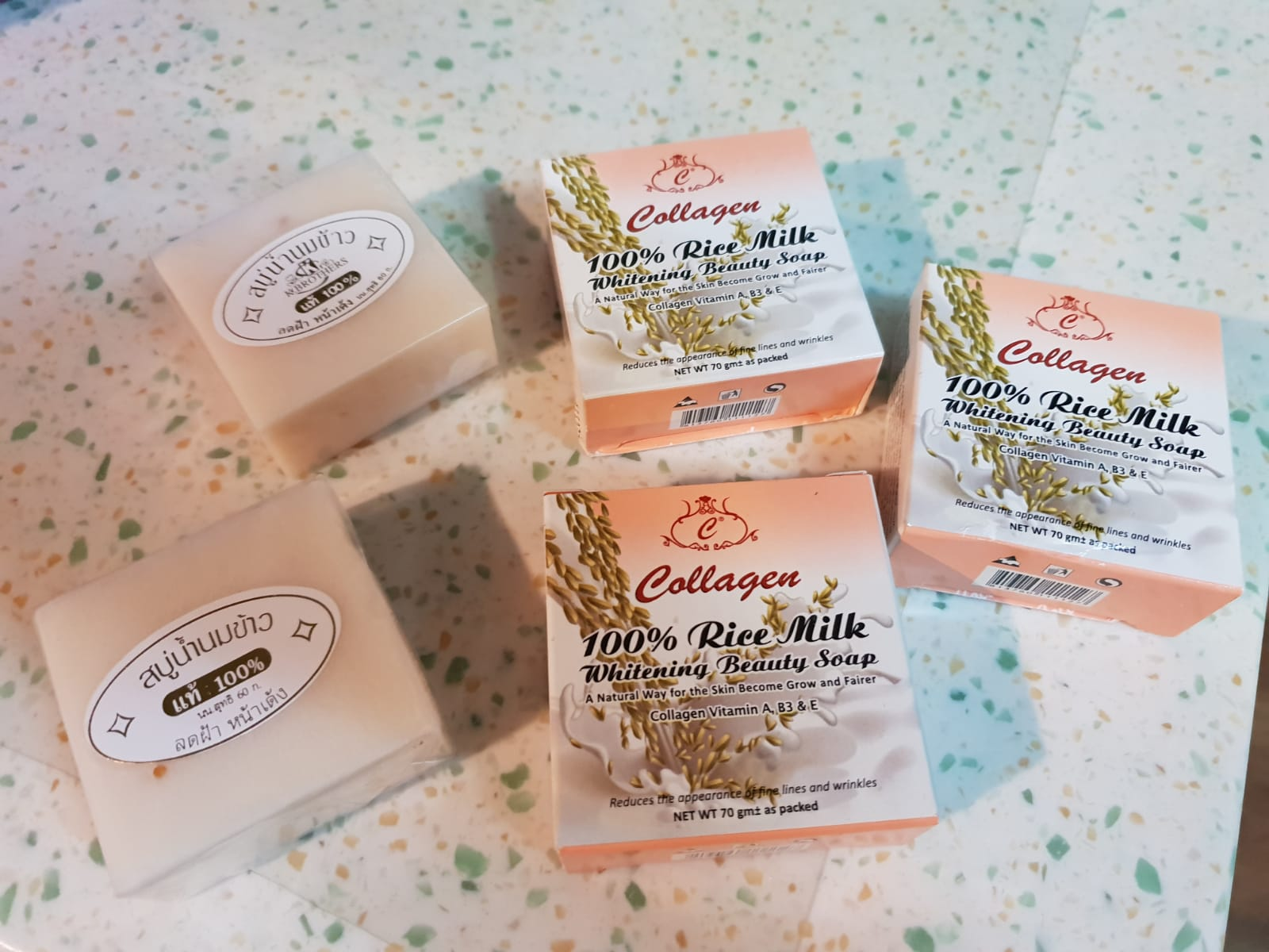 100% Rice Milk Whitening Beauty Soap with Collagen