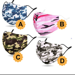 Camouflage Face Mask (2 pcs)