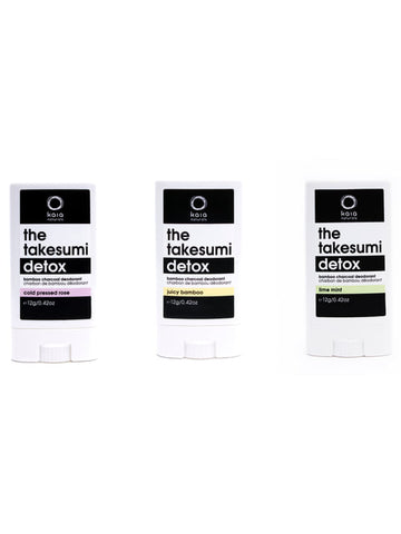 The Takesumi Detox Travel Size Deodorant Trio