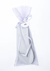 Classic White Flip Flop with Lavender Organza Bags - My Party Saver. Your Guest's Best Friend.™
