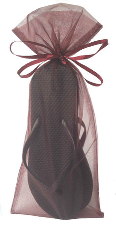 Wedding Guests Bulk Black Flip Flop Red Burgandy