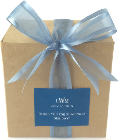 MPS Guilt-Free Smoke Blue Welcome Box (Kraft/Tuck Top) - My Party Saver. Your Guest's Best Friend.™