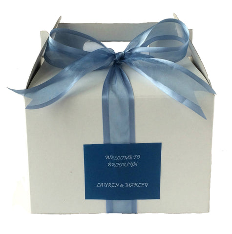 MPS Original Smoke Blue Welcome Box (White/Gable) - My Party Saver. Your Guest's Best Friend.™